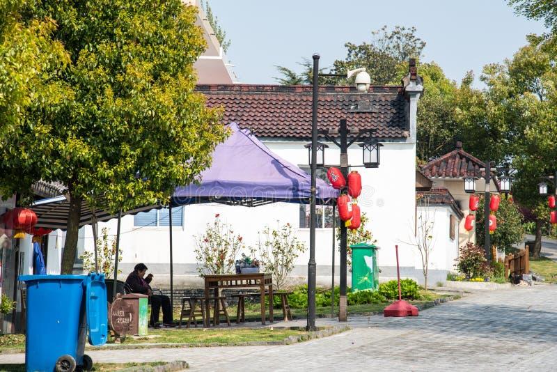 Улица деревни Huanglongxian стоковые изображения rf