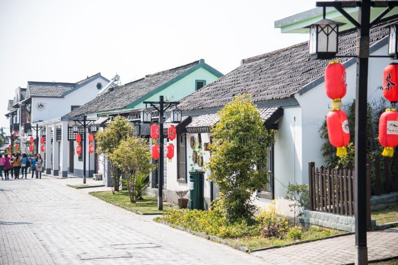 Улица деревни Huanglongxian стоковое изображение rf