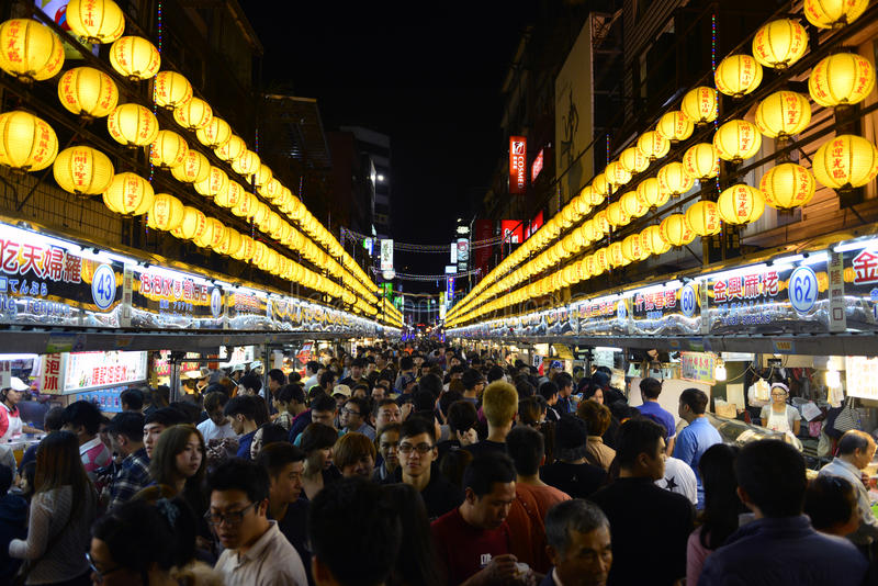 Улица еды, Тайбэй Тайвань Китай стоковая фотография rf
