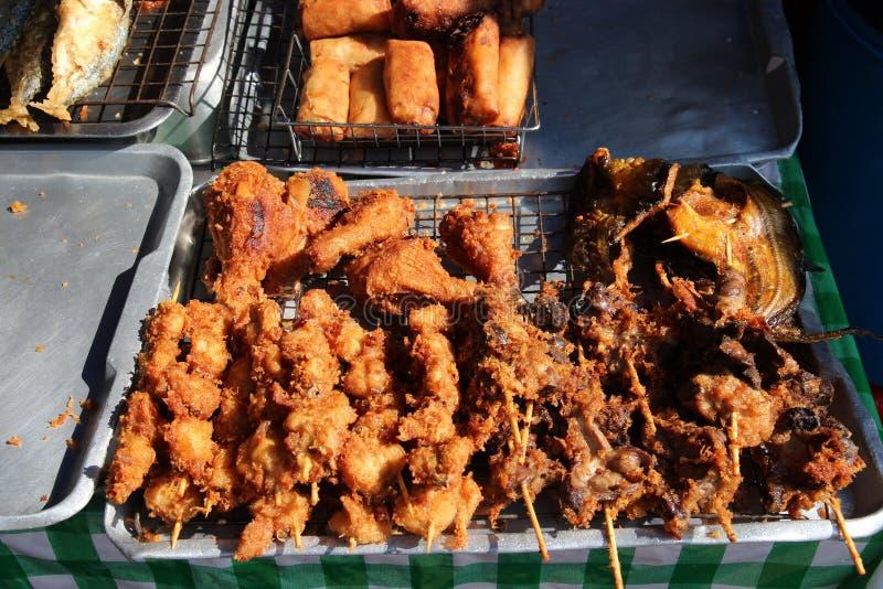 улица еды тайская стоковые изображения rf