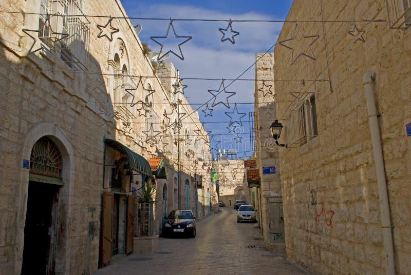 Улица звезды, Betlehem, Палестина стоковые изображения