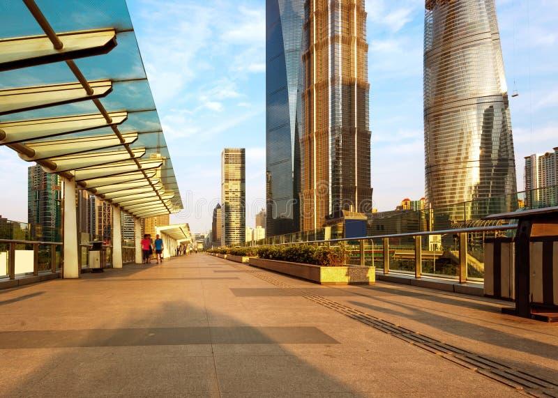 Улица и пешеход Шанхая стоковая фотография