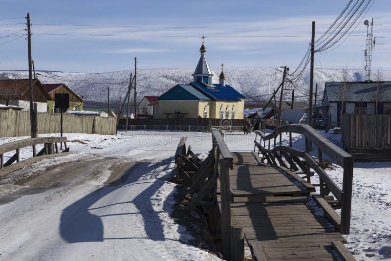 Улица и православная церков церковь стоковая фотография rf