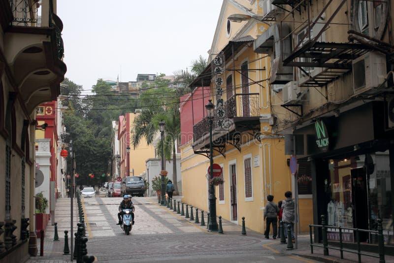 Улица Макао стоковые фотографии rf