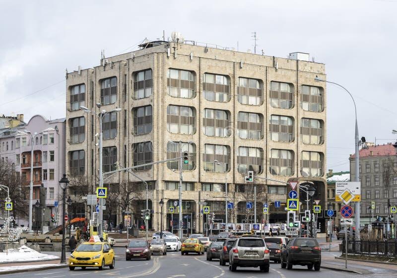 Улица Москвы внутри городская стоковое изображение