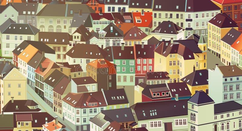 улица ночи города предпосылки иллюстрация штока