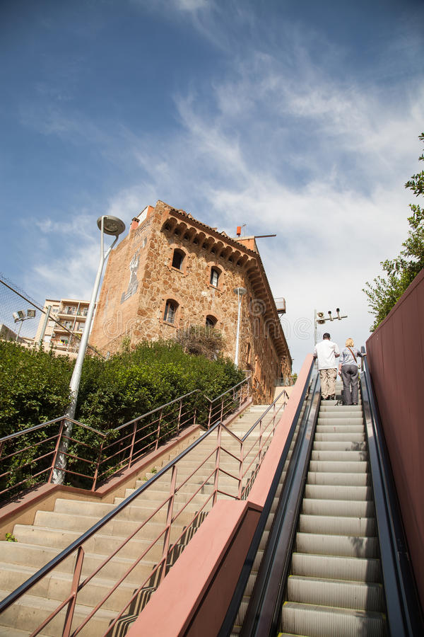 Улица около парка Guel, Барселоны стоковые изображения rf