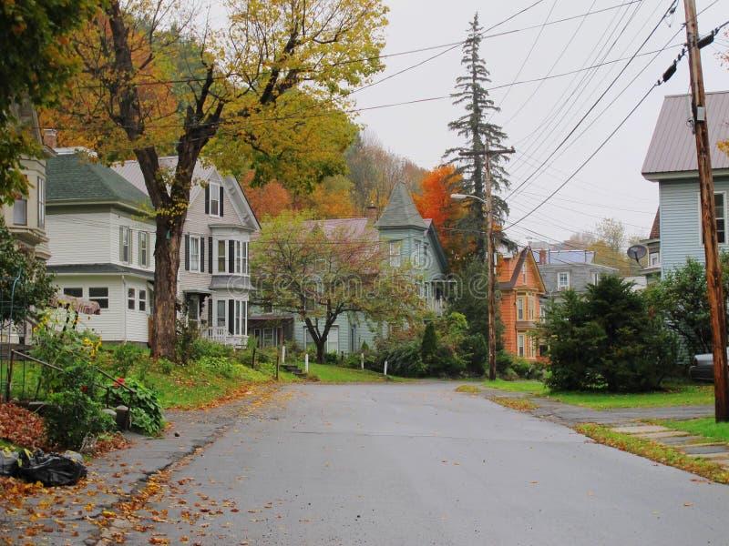 Улица осени стоковая фотография rf