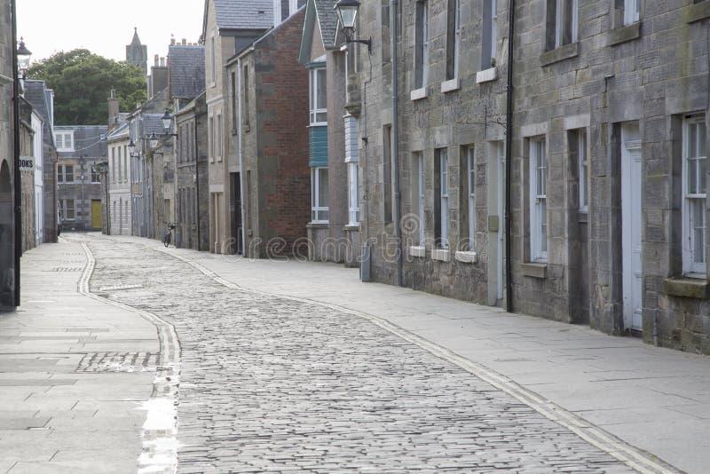 Улица рынка, Сент-Эндрюс, файф; Шотландия стоковые изображения