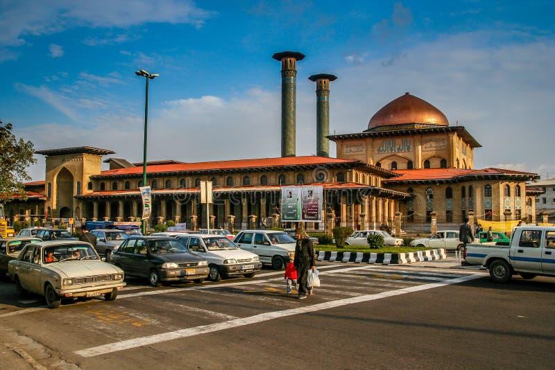 Улица скрещивания в Тебризе стоковая фотография