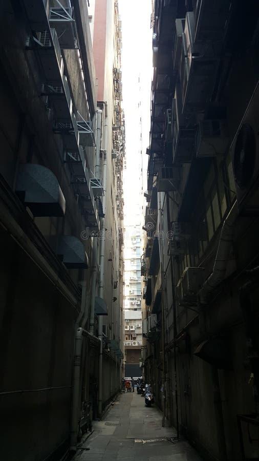 Улица схвата kwun Гонконга стоковое фото