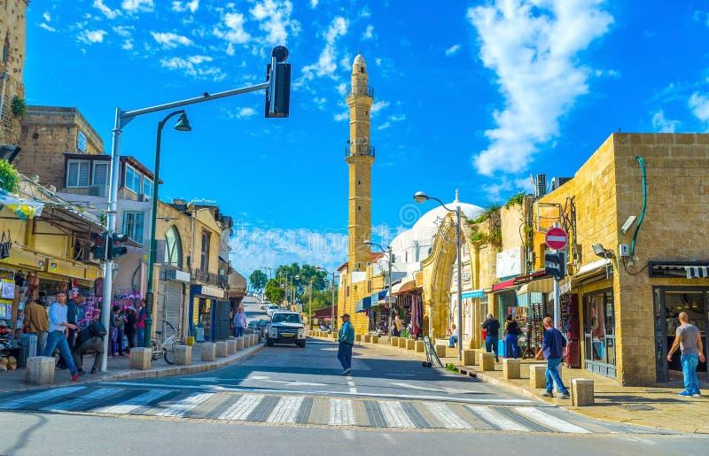Улица с минаретом стоковые фото