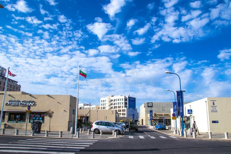 Улица Тель-Авив стоковое фото
