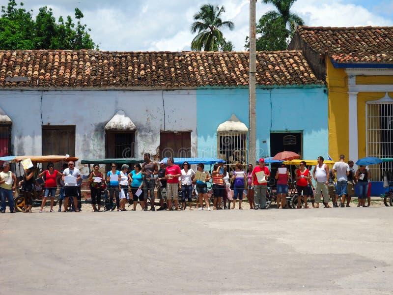 улица Тринидад Кубы стоковая фотография