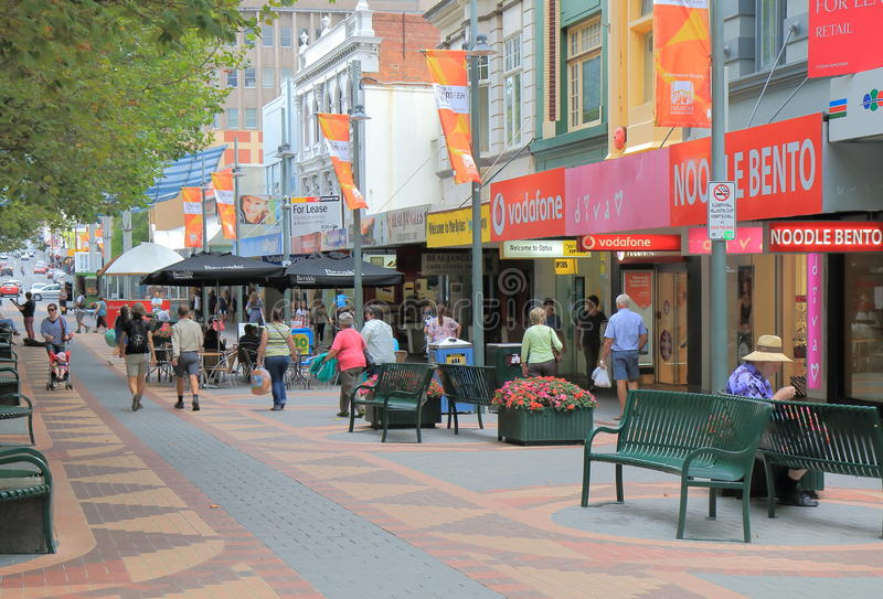 Улица Хобарт Австралия Элизабета стоковое фото