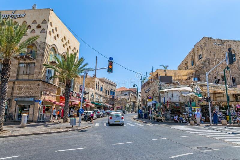 Улица Яффы Nahum Goldmann стоковое изображение rf