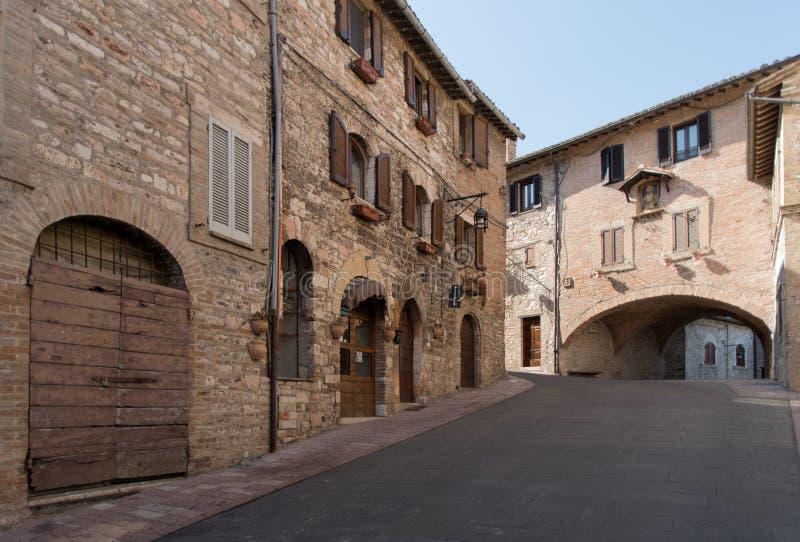 Улица Assisi, Италия стоковые изображения