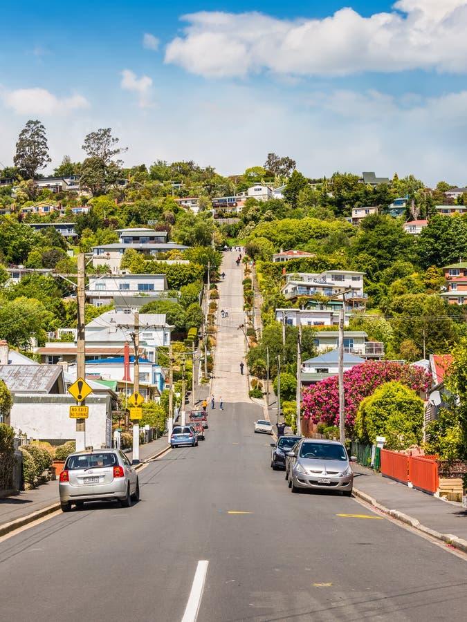 Улица Baldwin, Данидин, Otago, Новая Зеландия стоковое изображение