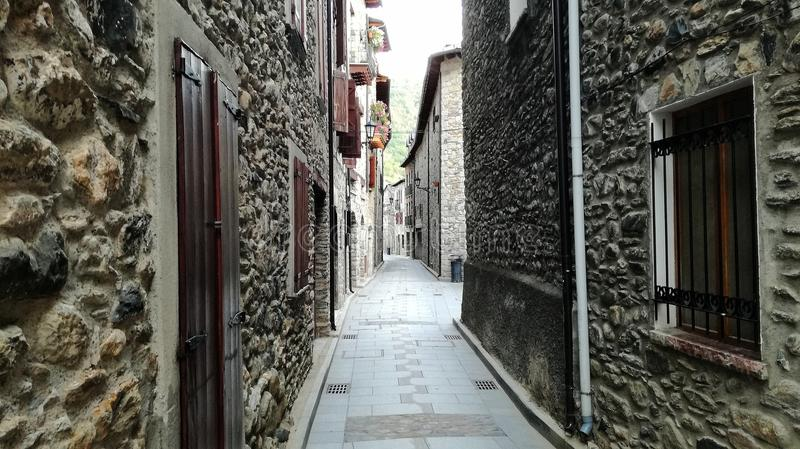 Улица Benasque стоковые фотографии rf