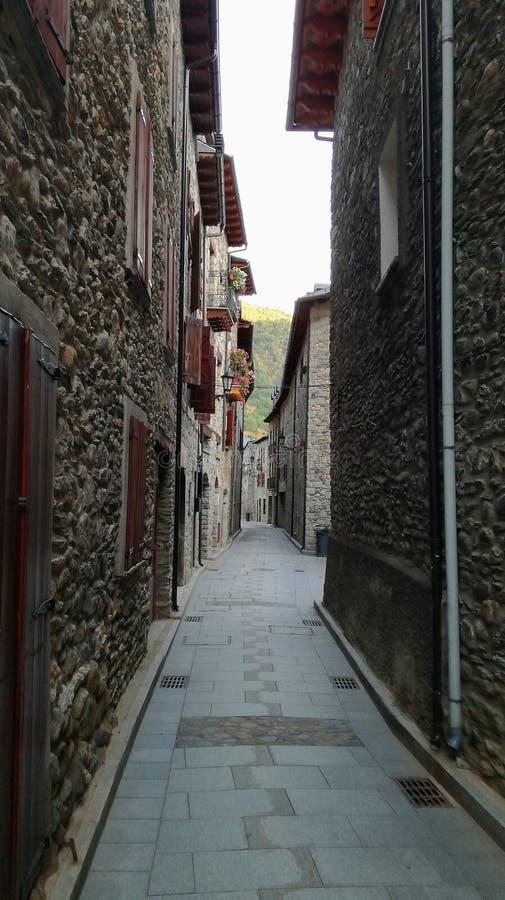 Улица Benasque стоковые фото