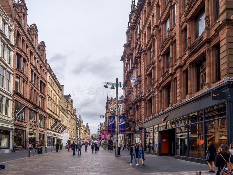 Улица Buchanan в Глазго стоковое изображение rf