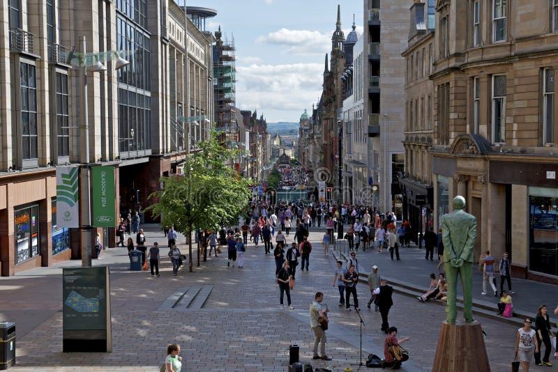 Улица Buchanan статуи дюара Дональда, Глазго стоковые фото