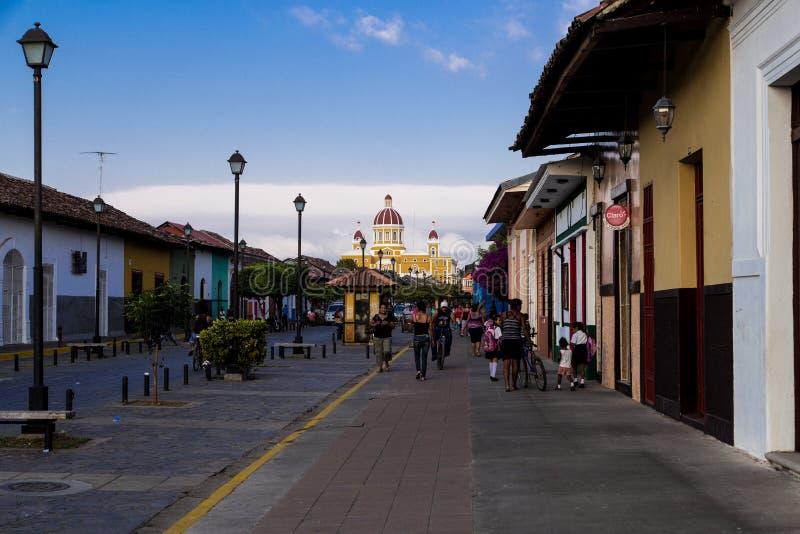 Улица calzada Ла от Гранады стоковые фотографии rf