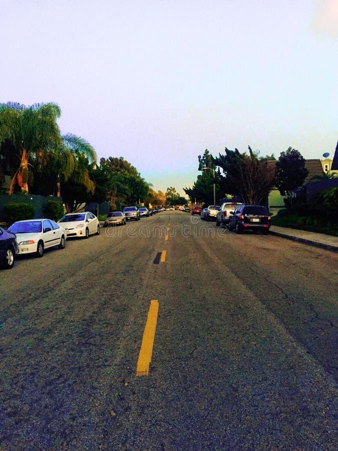 Улица Costa Mesa стоковая фотография rf