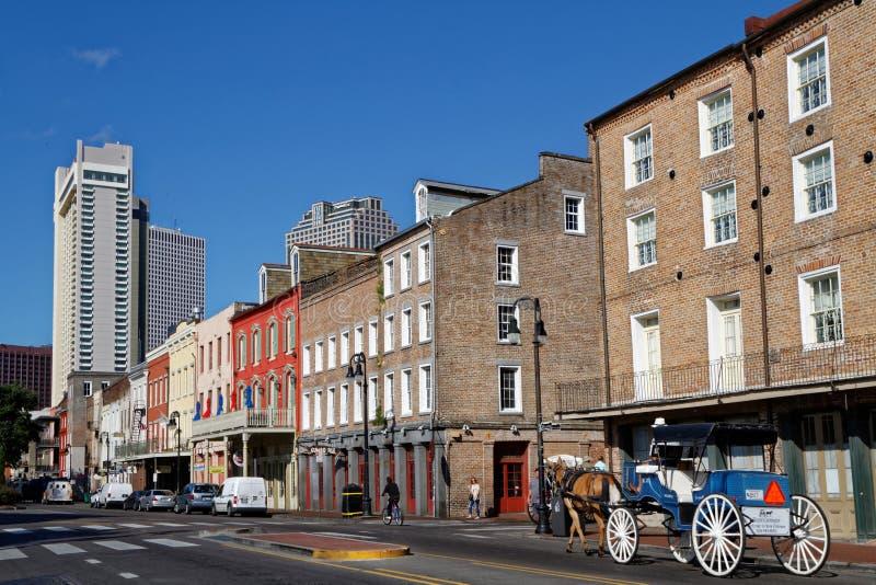 Улица Decatur Нового Орлеана стоковое фото