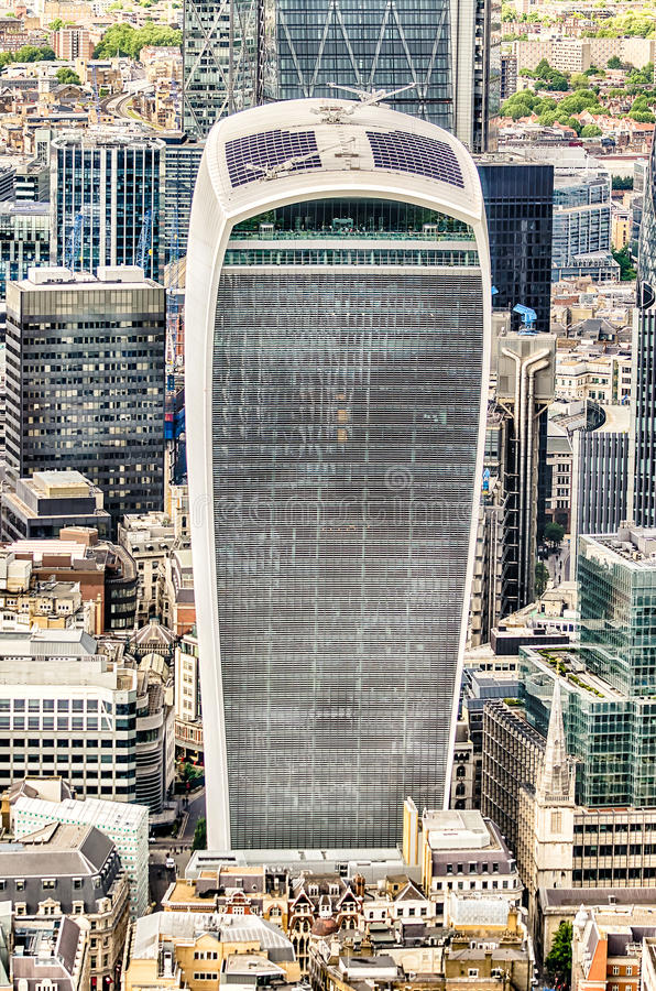 Улица 20 Fenchurch, aka башня звукового кино Walkie, Лондон стоковая фотография
