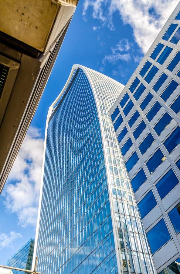 Улица 20 Fenchurch, aka башня звукового кино Walkie, Лондон стоковое изображение