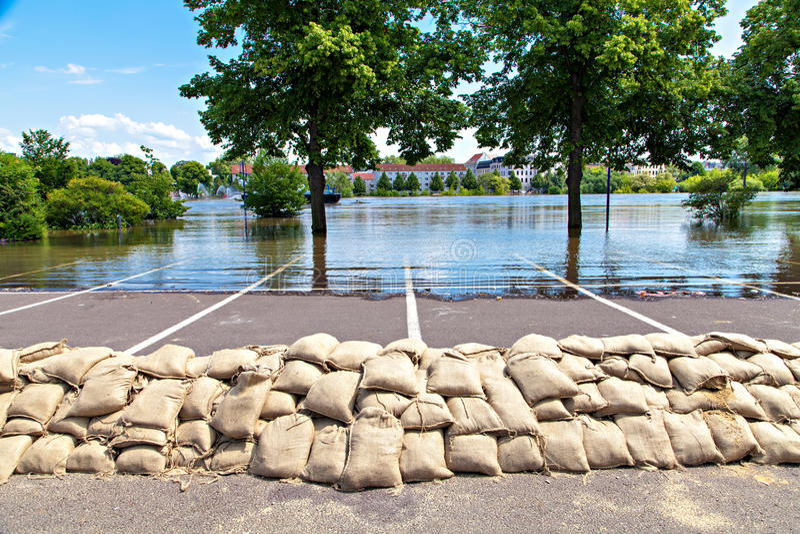 Улица flooding стоковое фото
