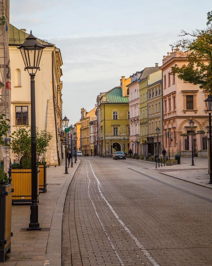 Улица Grodzka в Кракове стоковая фотография rf