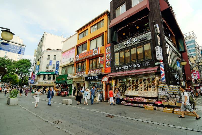 Улица Insadong, Сеул, Корея стоковое изображение
