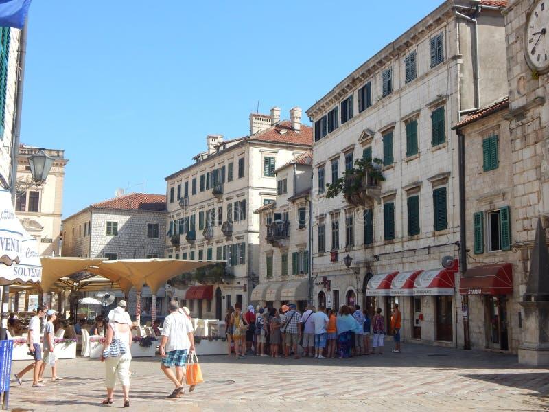 Улица Kotor стоковое изображение rf