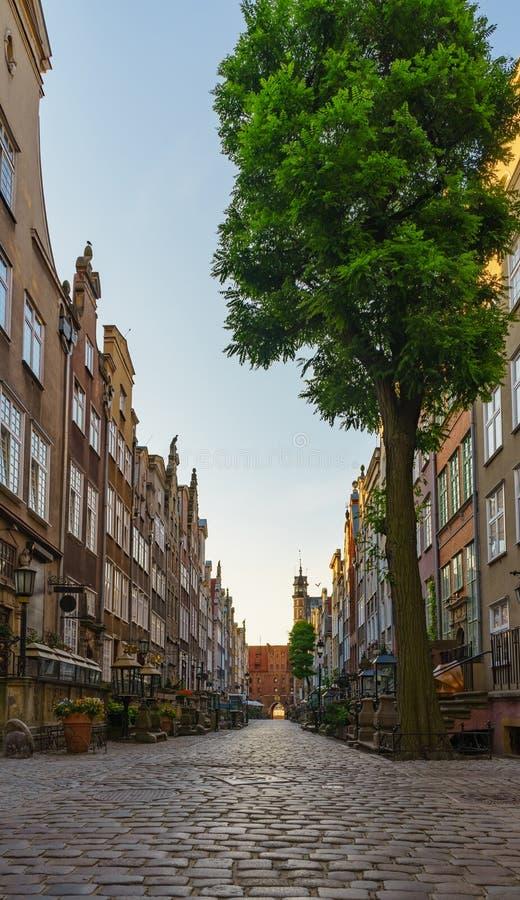 Улица Mariacka, старый городок Гданьска стоковое фото rf