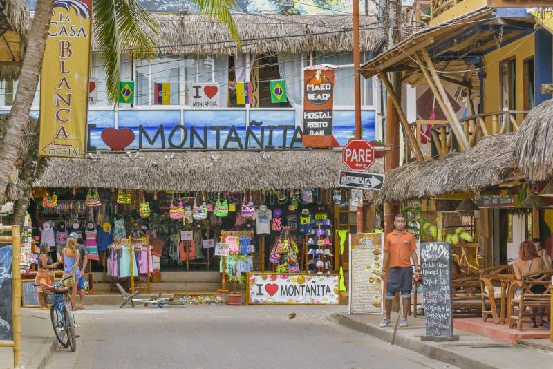 Улица Montanita эквадора стоковая фотография rf
