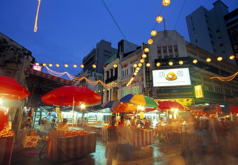Улица Petaling (Чайна-таун), Куала-Лумпур, Малайзия стоковые изображения rf
