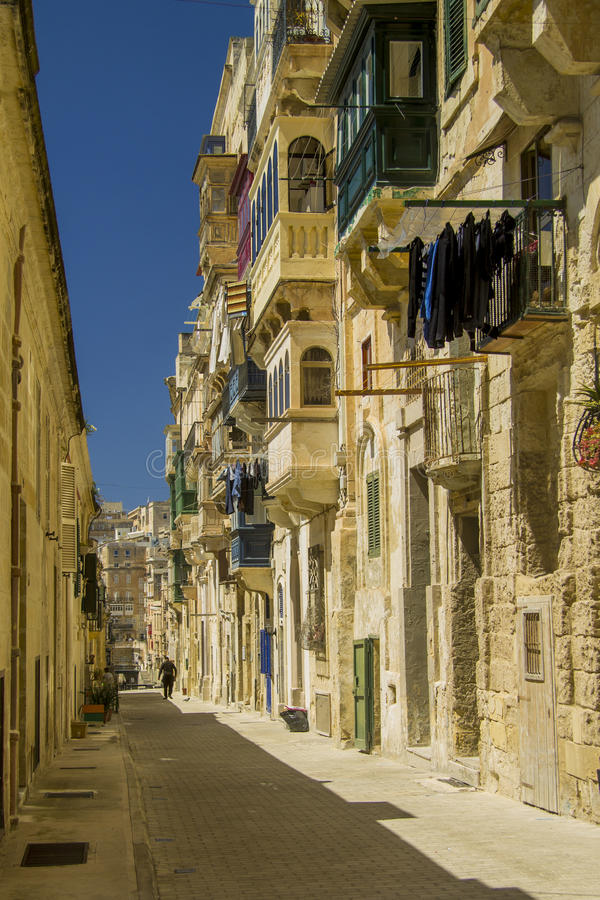 улица valletta malta стоковое изображение