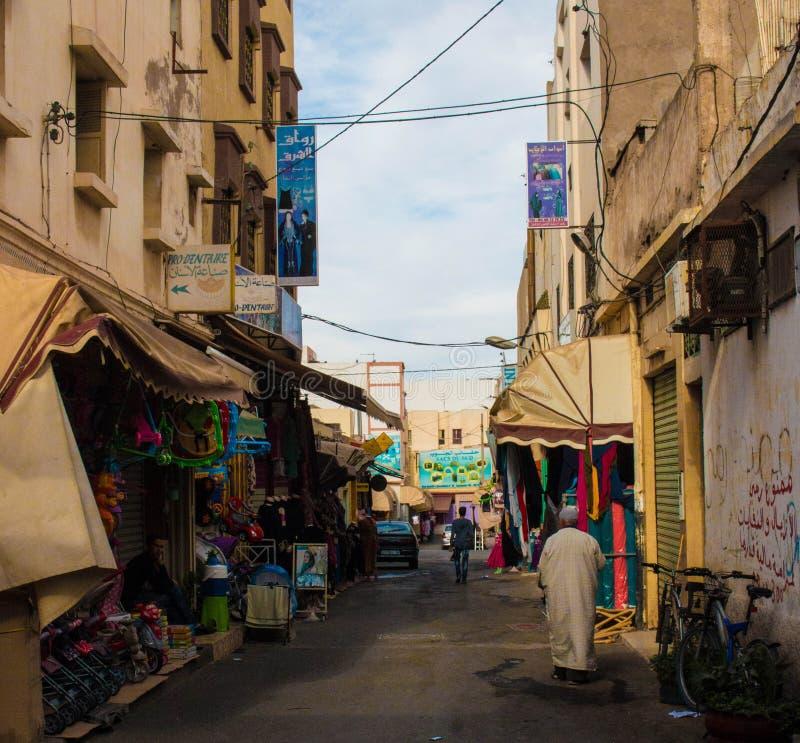 Улицы Агадира стоковое фото rf