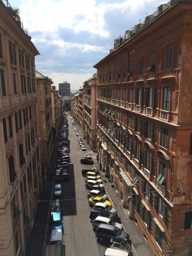 Улицы Генуи стоковая фотография