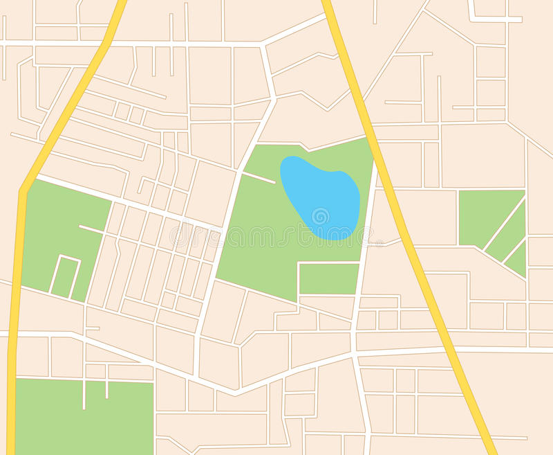 Улицы города - план иллюстрация вектора
