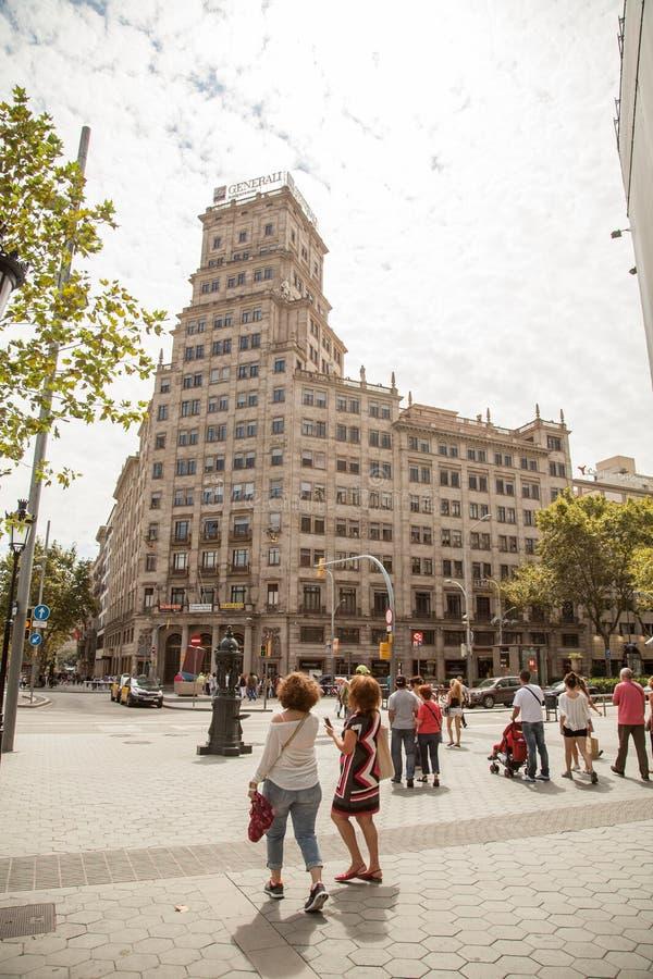 Улицы и здания в Барселоне стоковые изображения rf