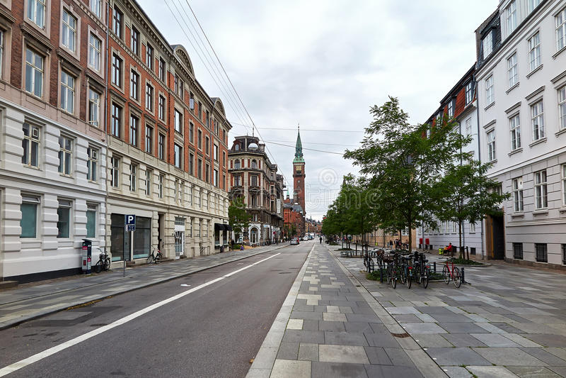 Улицы Копенгагена, Дании стоковое изображение rf