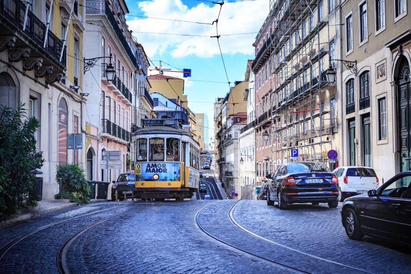 Улицы Лиссабона стоковые изображения