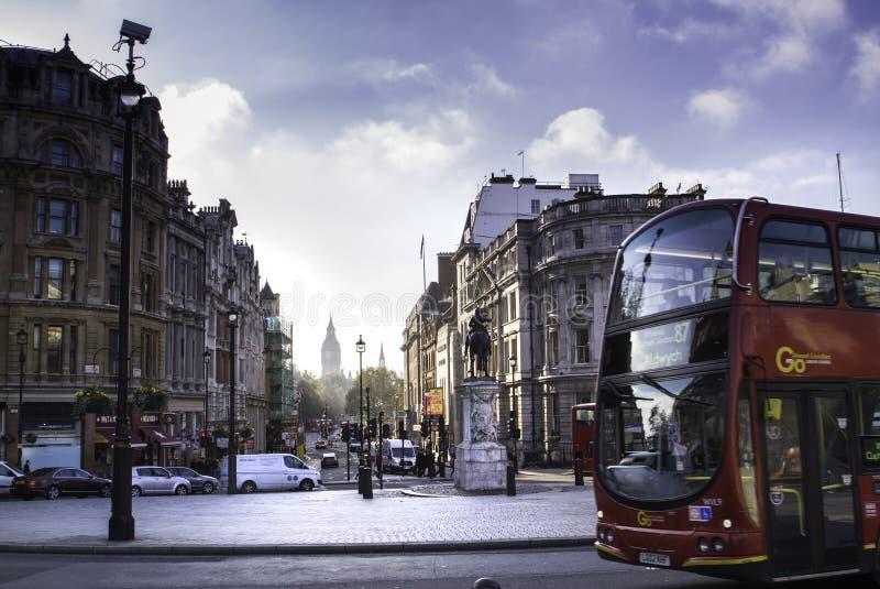 Улицы Лондона в осени стоковая фотография