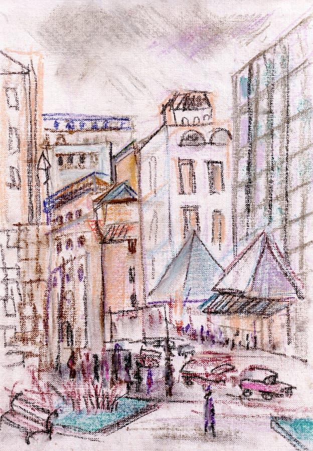 Улицы Москвы иллюстрация вектора