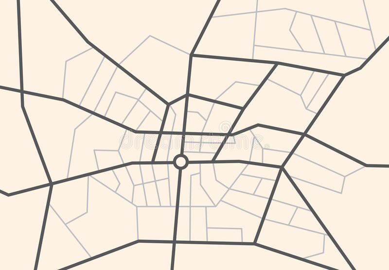 Улицы на городе составляют карту - vector схема бесплатная иллюстрация