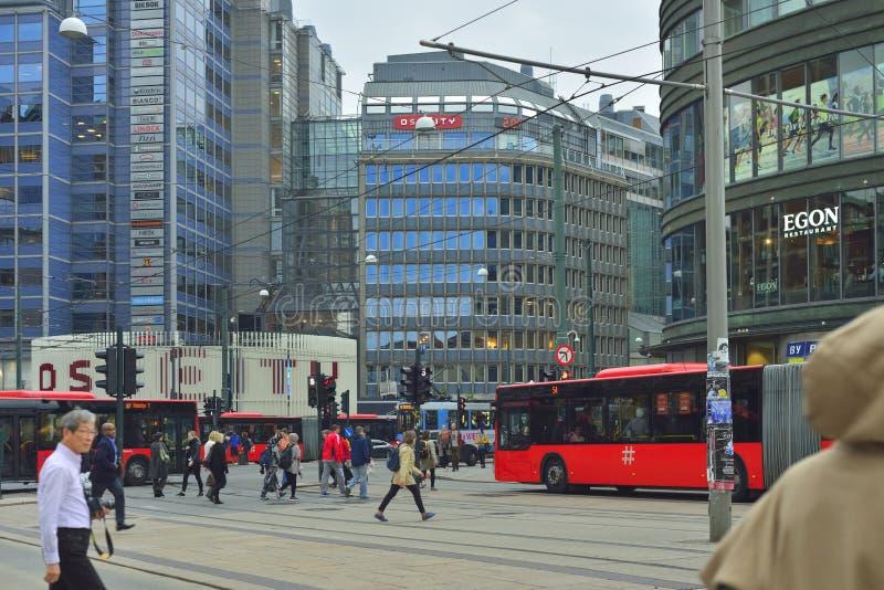 Улицы Осло стоковые фотографии rf