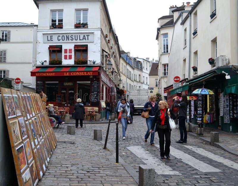 Улицы Париж стоковые изображения rf
